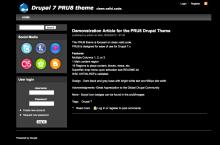 PRU8 theme screenshot