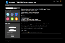 PRU8 theme screenshot