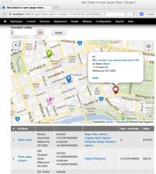Bing map via Leaflet showing markers with font icons