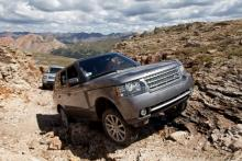 Range Rover in mountain Range