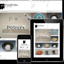 Screenshot of FontFolio, responsive Drupal theme.