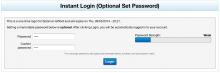 Example optional password
