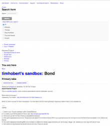 Screenshot of this page using the Bond theme. Clean HTML!