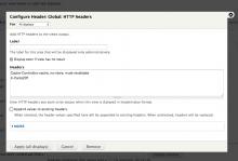 Module settings in Views