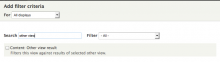 Select content: other views result from the filters list.