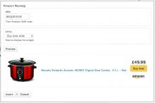 Amazon wysiwyg insert button and widget