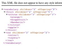 A screenshot of a test XML dump