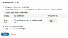 Block Group Visibility Access Settings