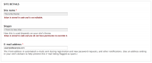 Admin form showing a locked setting and a locked exported setting.