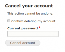 Cancel Account Separate Form