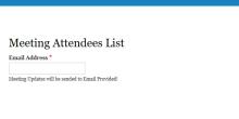 Meeting Attendees List