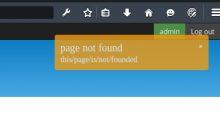 Page not found notification