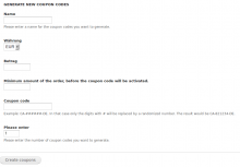 Generate your fixed amount coupons for drupal commerce