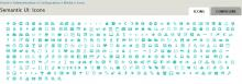 Semantic UI bundle Icons Icon-API