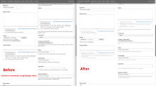 a screenshot of the results, comparing before and after, of using Seven+