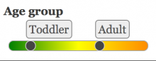 Slider on a list field with alternative skin