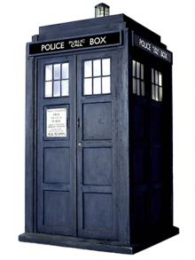 Image depicting the TARDIS from Dr. Who.