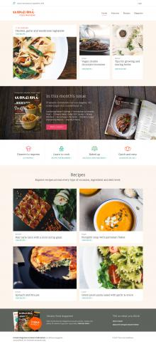 Frontpage design for Umami theme