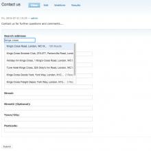 Webform address field with Capture plus