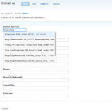 Webform address field with Capture plus