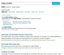 Example of AdSense Custom Search Ads.