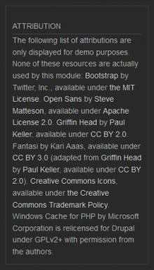 screen shot of attribution block