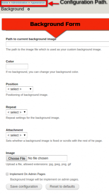 Background form settings