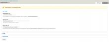 Backlinkseller module global settings page