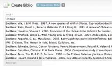 Autocompletion of biblio title field from ZooBank and IPNI