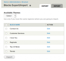 block export import
