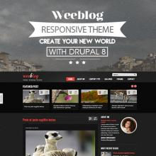 Personal Blog Drupal 8 Theme