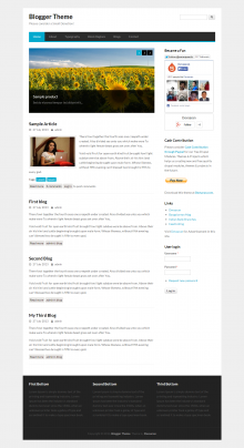 Blogger Drupal theme