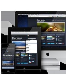 BlueMasters responsive Drupal theme