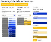 Drupal Bootstrap Material Design Colors