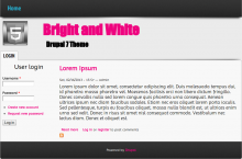 Bright and White theme screenshot