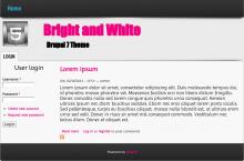 Bright and White theme screenshot