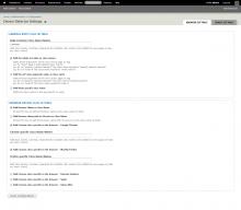 Browser Settings