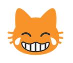Cat Face With Tears of Joy Emoji