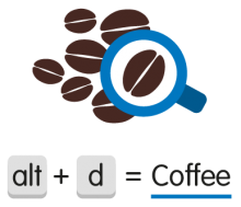 Logo Coffee = alt + d