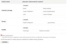 Screenshot of Configuration Synchronizer initialization screen.