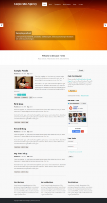 Corporate Agency Theme Sccreenshot
