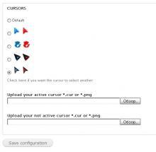 global theme settings page