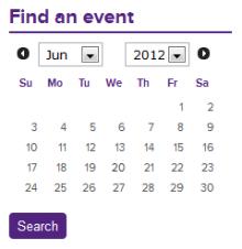 Datepicker block example