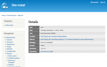 """A screenshot of the Drupal 7 [log message] Details screen showing an """"Email a copy to myself"""" link in the Operations row."""