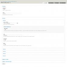 Drupal mobile sliding menu module - admin page