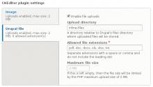 Plugin's settings
