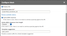 block configuration for eventbrite attendees block module