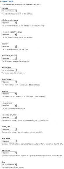 Field Format Case - Addressfield Example