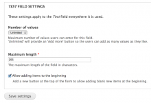 A new checkbox is placed on field settings forms.