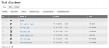 Filebrowser table view